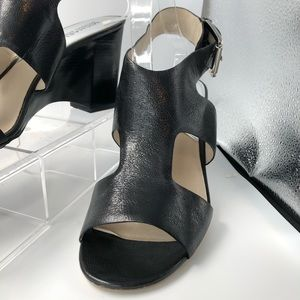 Michael Kors Black Leather Gladiator Heels Sz 10